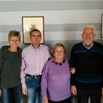 UNITI A CASTANA E VICOFORTE Voena Pietro e Francangela Orioli con Andrea ed Enrica