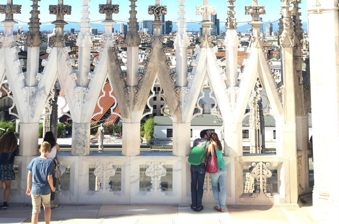 Terrazze del Duomo di Milano visitatori