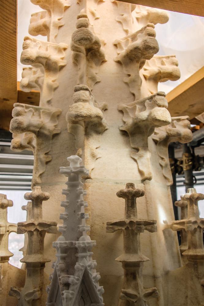 Sezione di guglia del Duomo