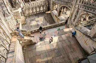 Terrazze del Duomo di Milano dall'alto
