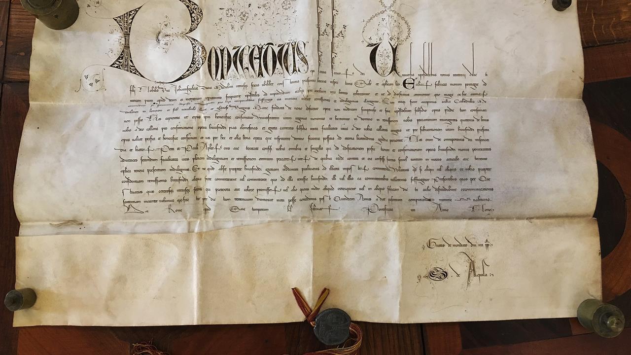La bolla di Papa Bonifacio IX del 1397