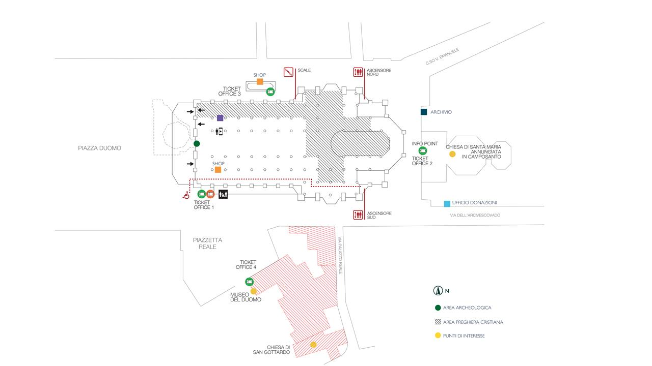 Mappa Duomo Di Milano