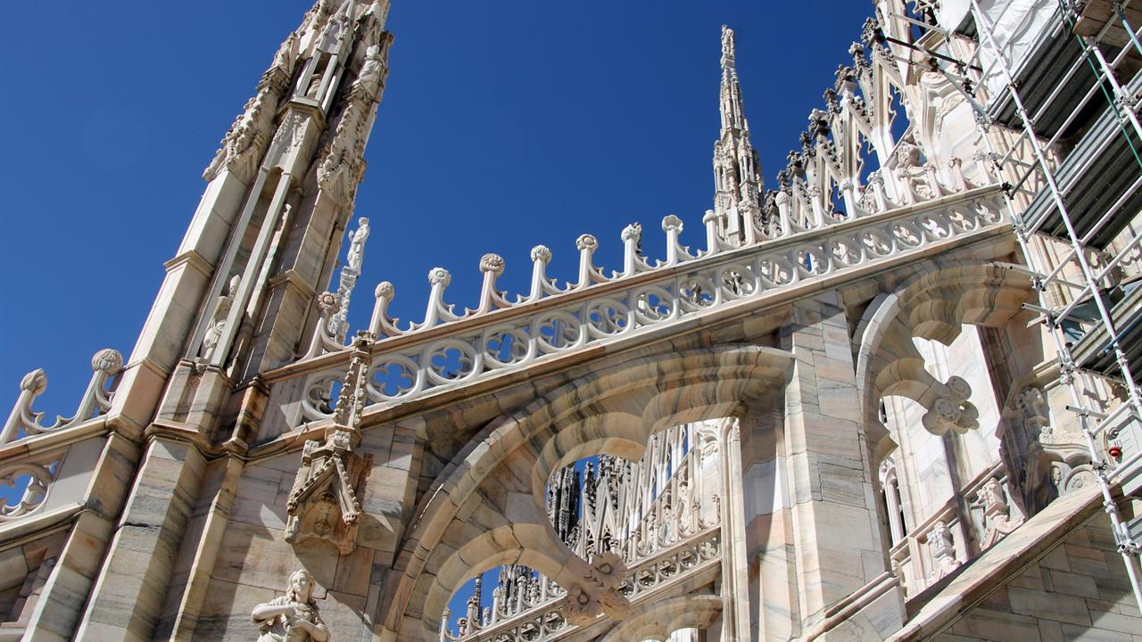The Crests Of Duomo Di Milanos Flying Buttresses